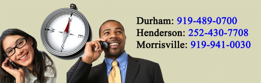 Contact Us By Telephone in Henderson, Morrisville and Durham