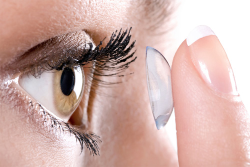 Inserting and Removing a Contact Lens