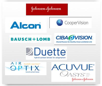 Logos of Contact Lens Companies