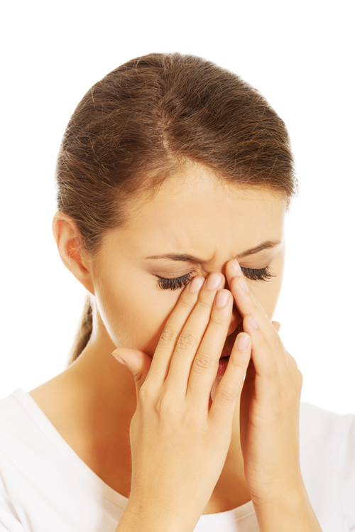 Girl with Ocular Allergies