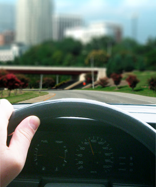 Myopic View from Observer While Driving in Raleigh Durham